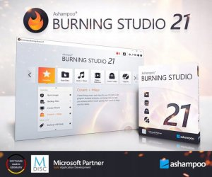 Ashampoo Burning Studio 21 do nagrywania płyt CD DVD 1PC ESD